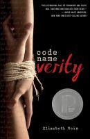 Code Name Verity by Elizabeth Wein cover
